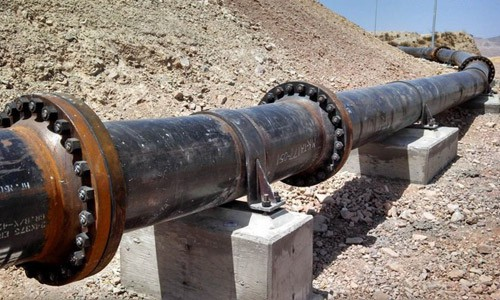Morenci Slurry Pipe Photo