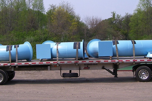 Rubber Lined Corrosive Chemical Pipe Photo